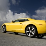 Camaro Yellow Side Low Angle Wallpaper[0]